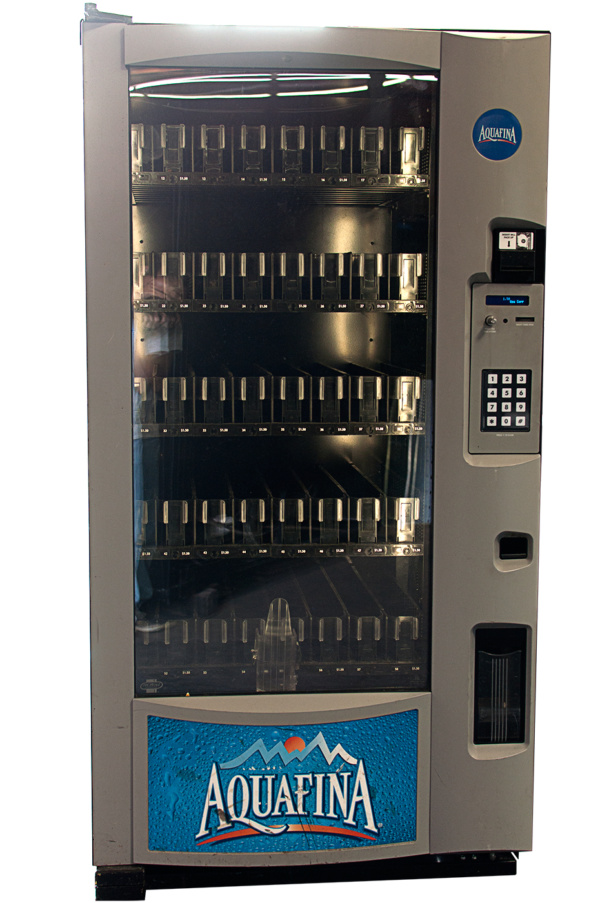 Aquafina glass front beverage vending machine