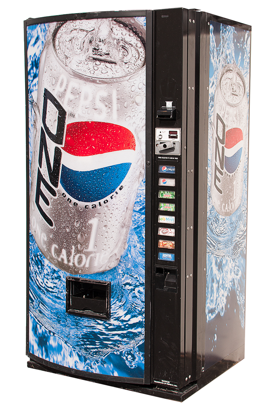 Pepsi One Graphic Multi-price Beverage Vending Machine