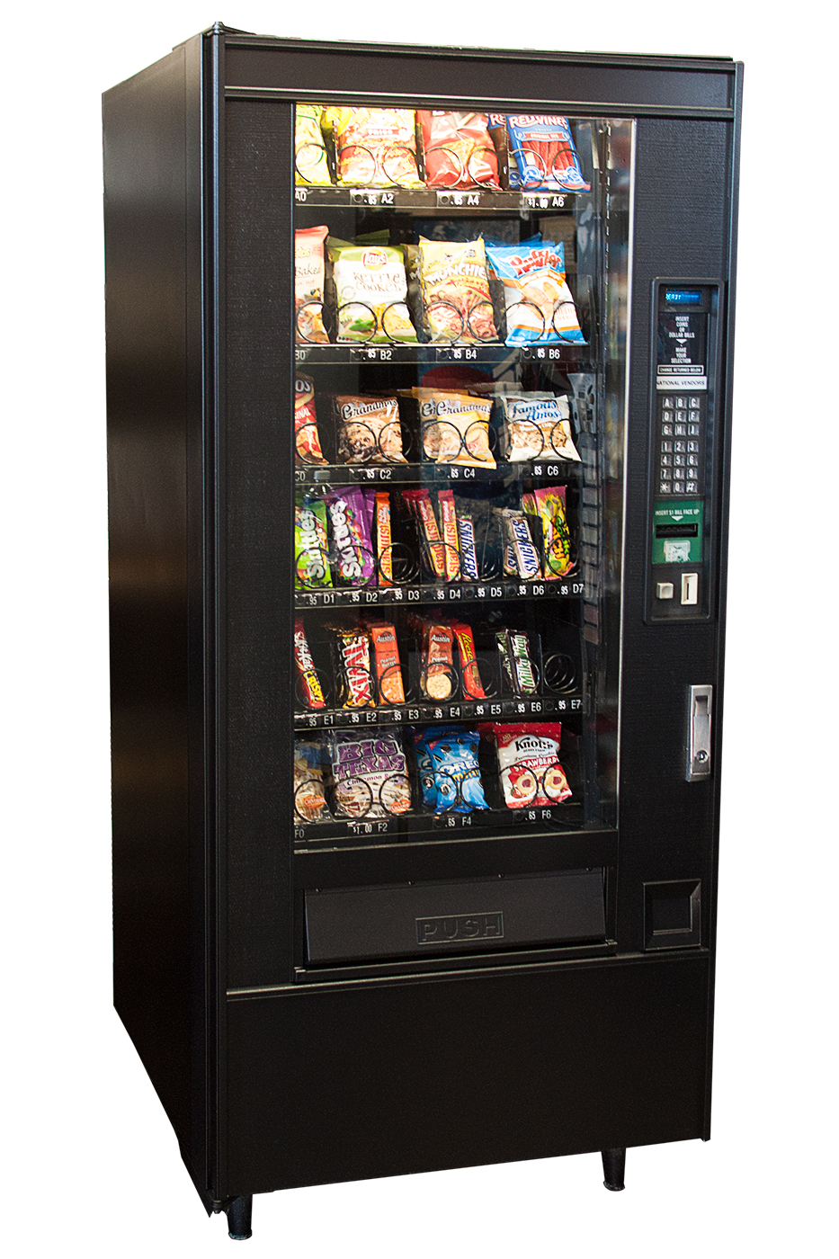 Side view of Snack Vending Machine