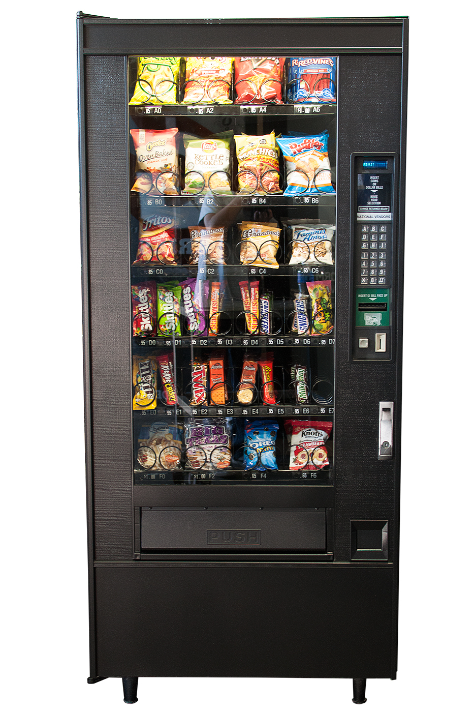 Front view of Snack Vending Machine